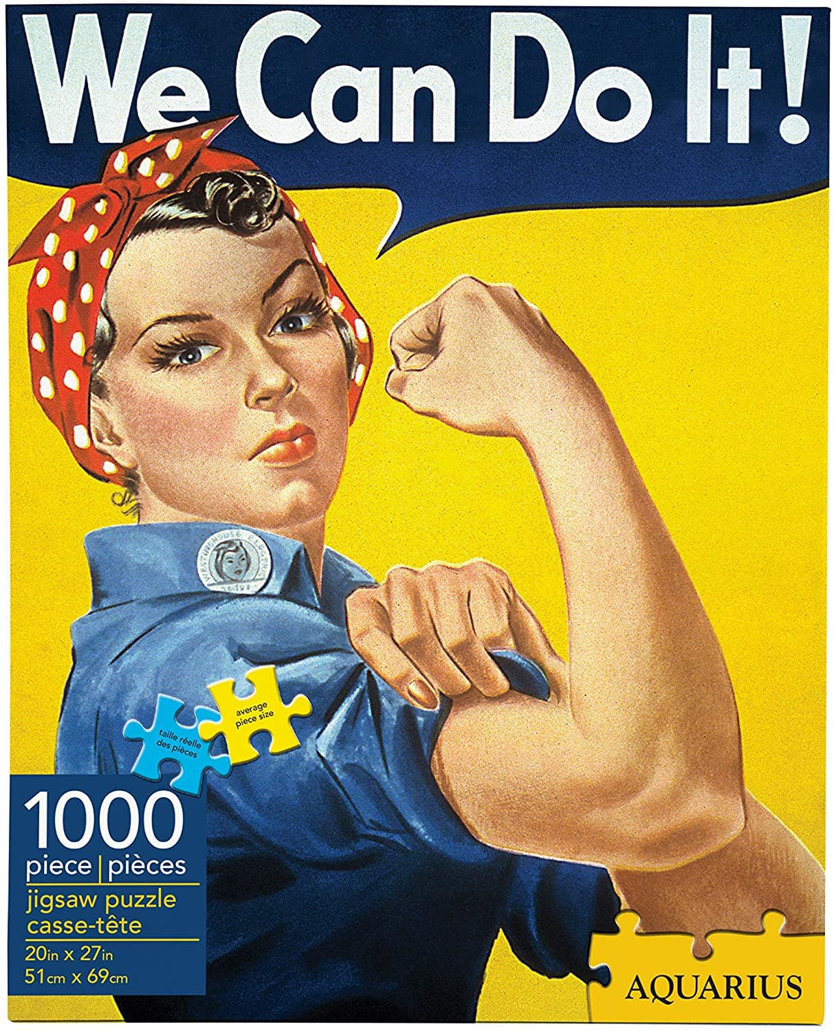 1,000-Pc Aquarius Smithsonian Rosie the Riveter Jigsaw Puzzle $4.80 + Free Shipping w/ Amazon Prime or Orders $25+