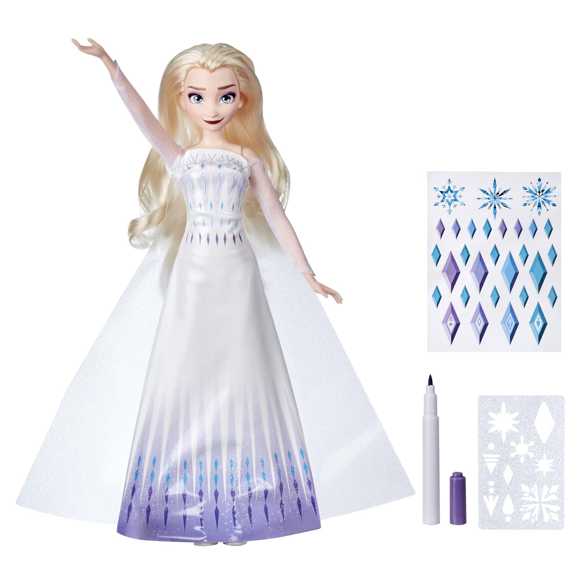 Disney's Frozen 2 Design-a-Dress Elsa Doll $10 + Free Shipping w/ Walmart+ or Orders $35+