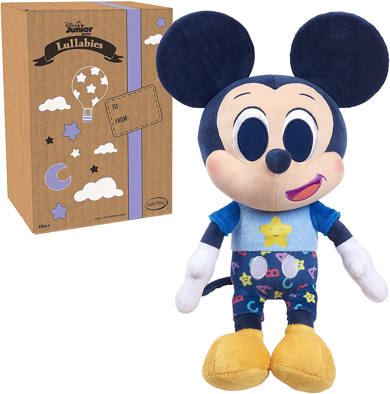 Disney Junior Music Lullabies Bedtime Plush w/ Sounds (Mickey Mouse) $9.60 + Free Shipping w/ Amazon Prime or Orders $25+