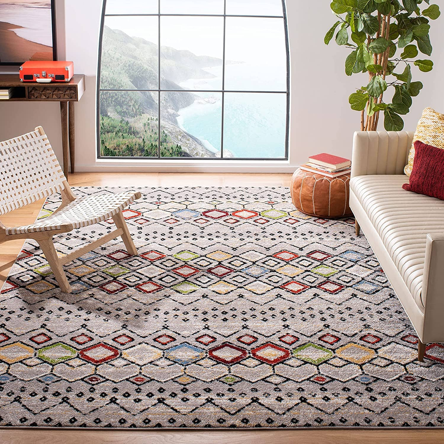 """5'1"""" x 7'6"""" Safavieh Amsterdam Collection Area Rug (2 Colors) $35 + Free Shipping"""