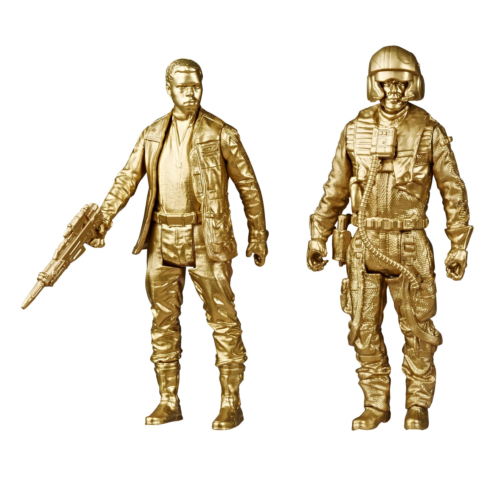 "2-Pack Star Wars Skywalker Saga 3.75"" Gold Figures: Finn & Poe $4.95, Kylo & Rey $5.25 + Free Shipping w/ Walmart+ or Orders $35+"
