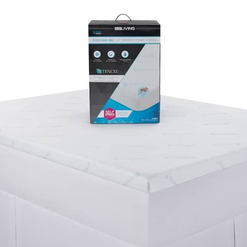 "Kohls Cardholders: 2.5"" Lux Living Tencel Cooling Memory Foam Mattress Topper (Queen, King) + $10 Kohls Cash $56 + free shipping"