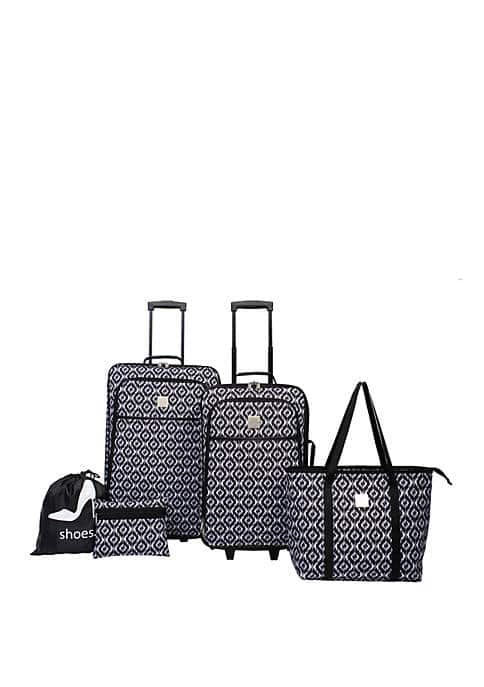 Modern Southern Home 5-Piece Luggage Set (various styles) $40 + Free Shipping