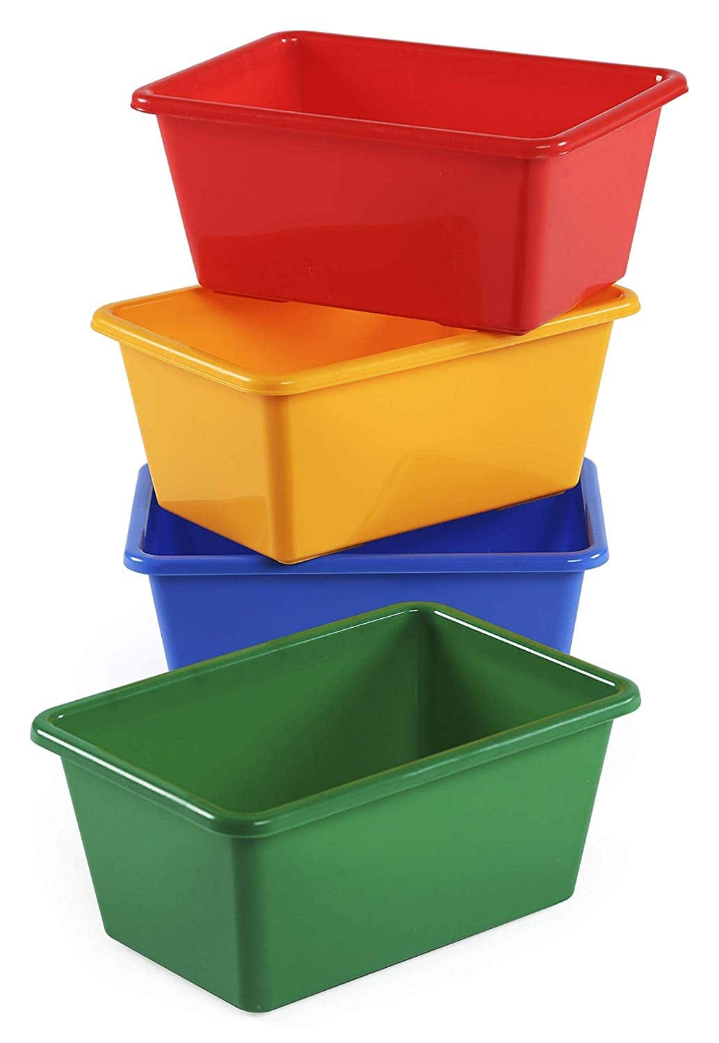 4-Pc Tot Tutors Kids' Primary Colors Small Storage Bins $5 + Free Shipping w/ Prime