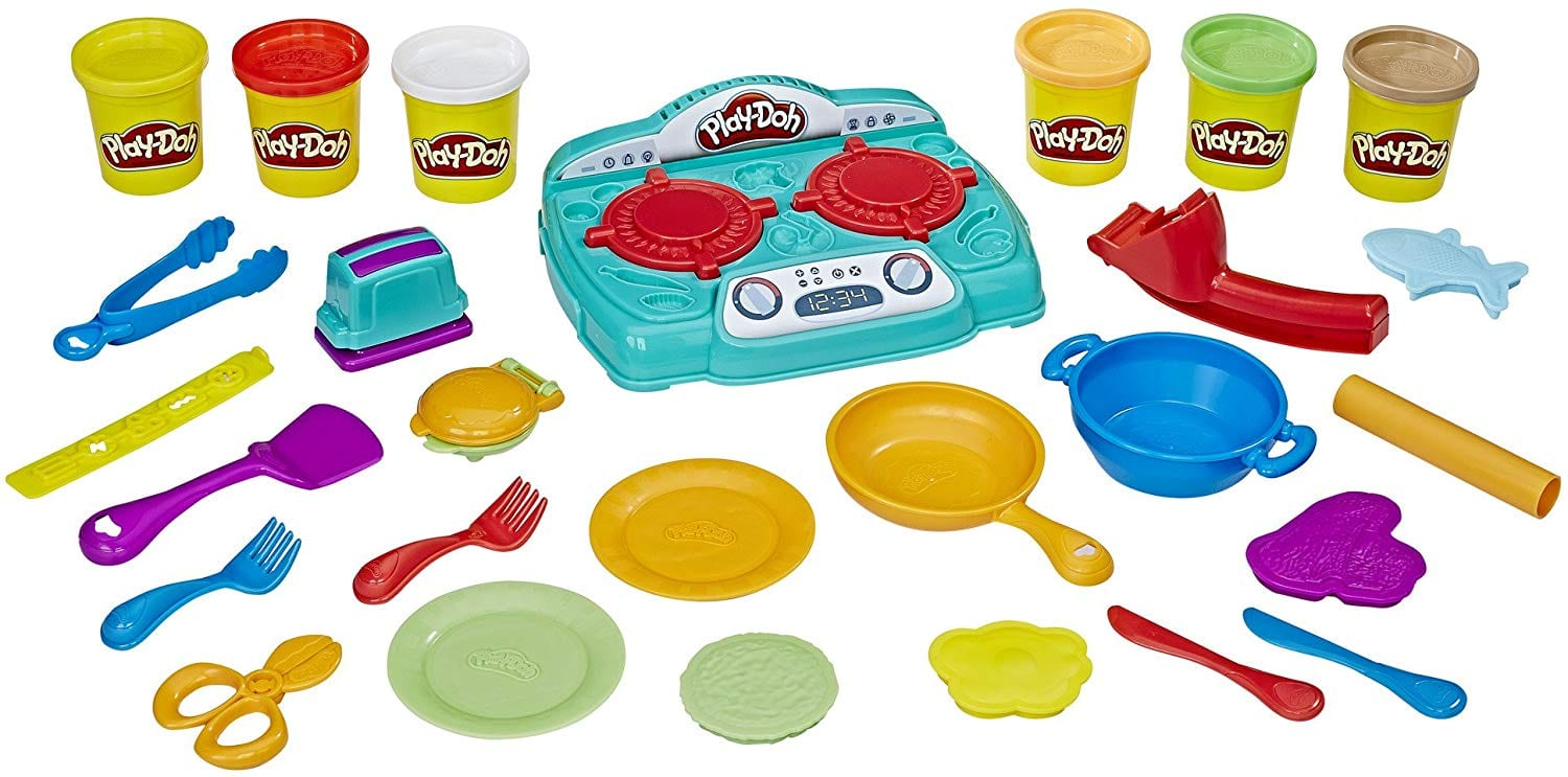 30-Pc Kids' Play-Doh Stovetop Super Playset $15, more + Free Shipping w/ Prime