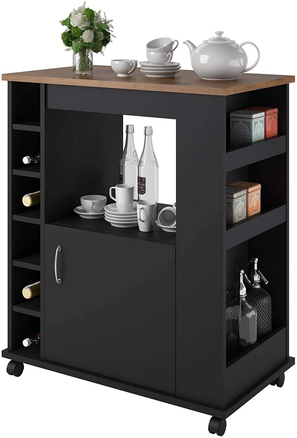 Ameriwood Home Williams Rolling Kitchen Cart $59 + Free Shipping