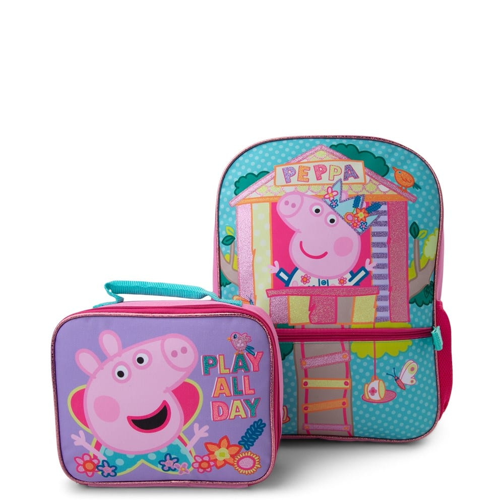 Kids' Peppa Pig Castle Backpack & Insulated Lunch Bag $15 + Free Shipping