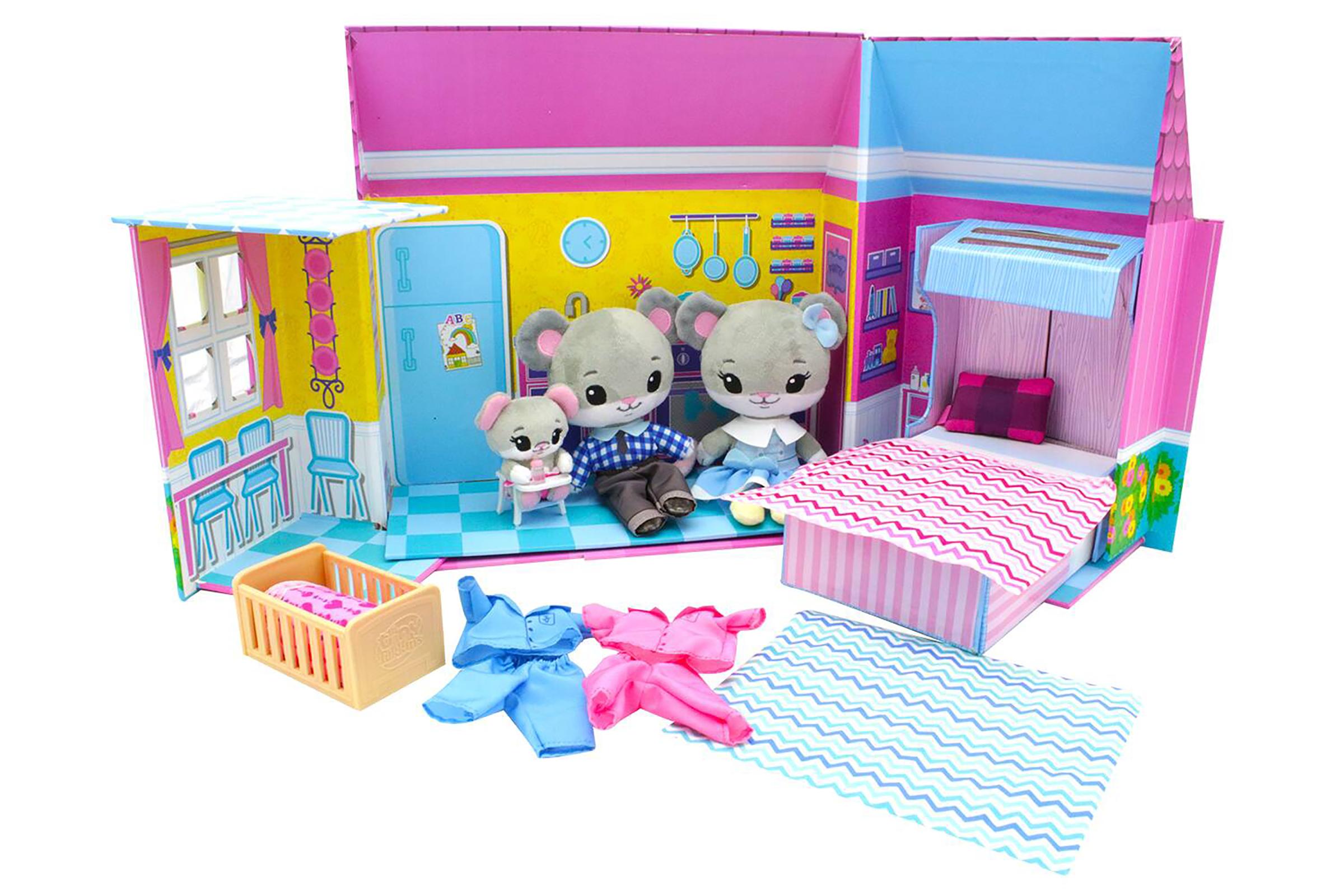 Tiny Tukkins Kids' Deluxe Plush Play House Set $10 + Free Store Pickup at Walmart