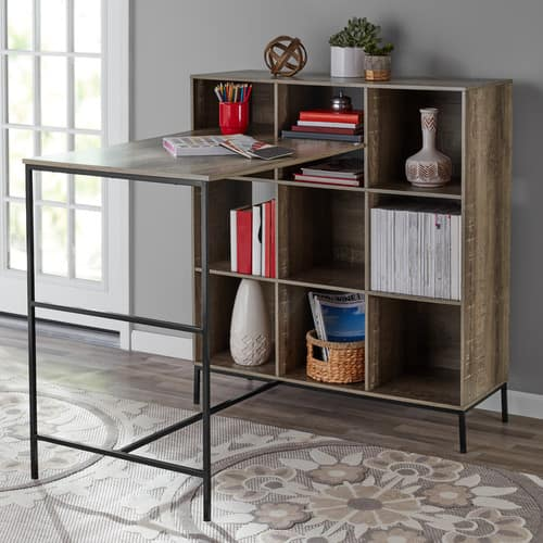 Mainstays 9-Cube Standing Storage Desk (Rustic Brown) $52.60 + Free Shipping