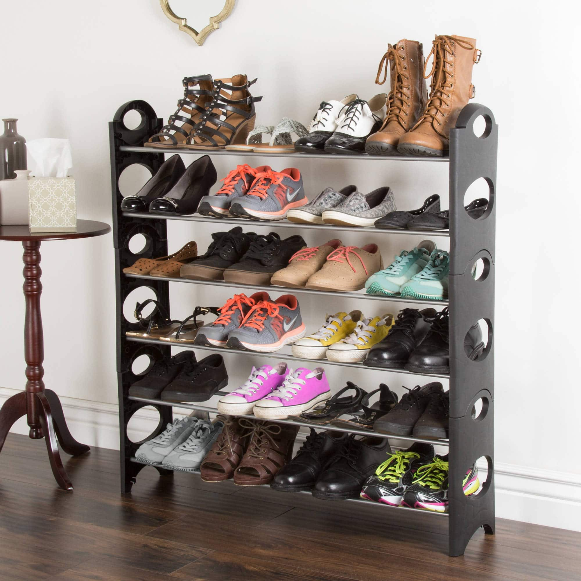 6-Tier Everyday Home Space Saver Shoe Rack $10 + Free Store Pickup at Walmart