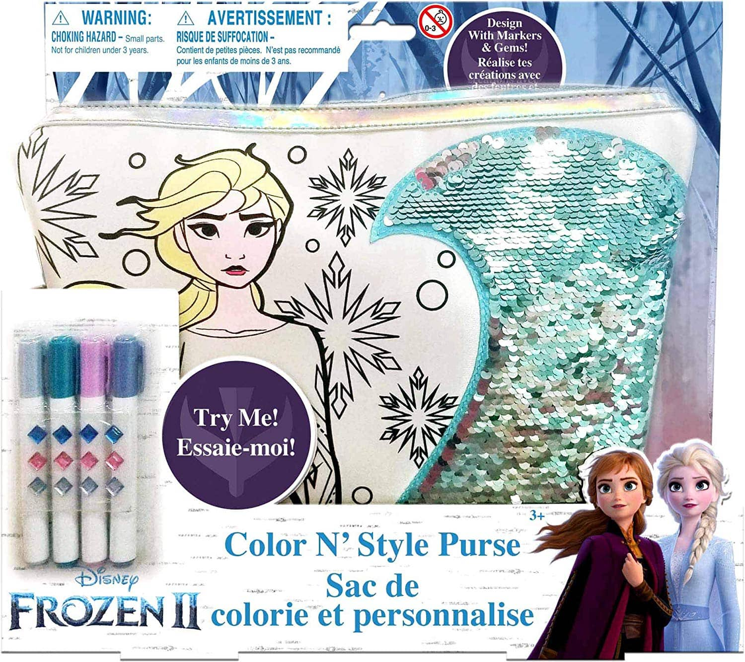 Tara Toys Frozen 2 Color & Style Purse w/ Color Changing Sequins $6 + Free Shipping w/ Prime