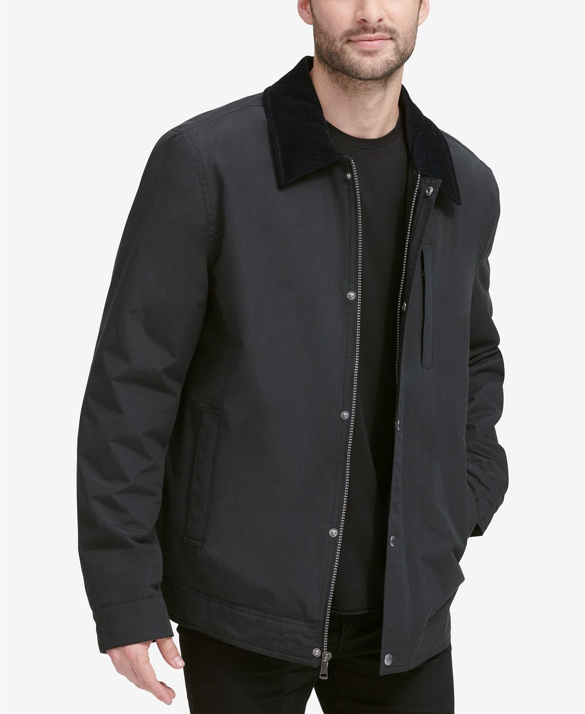 Macy's: Men's Cole Haan City Rain Barn Coat $75, Cole Haan Coaches Jacket w/ Sherpa Fleece Lining $83 & More + Free Shipping $75+