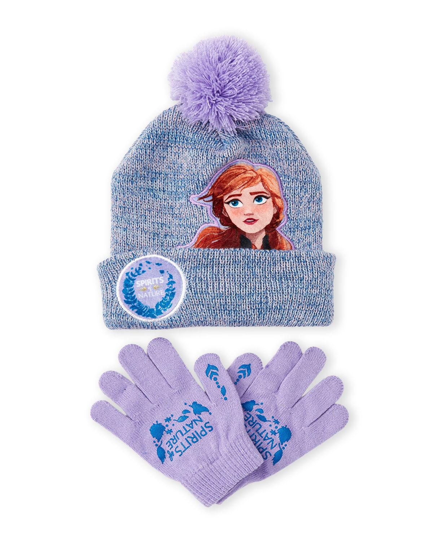 2-Pc Disney's Frozen Girls' Anna Pom Beanie & Gloves Set $4 & More + Free Shipping $10+
