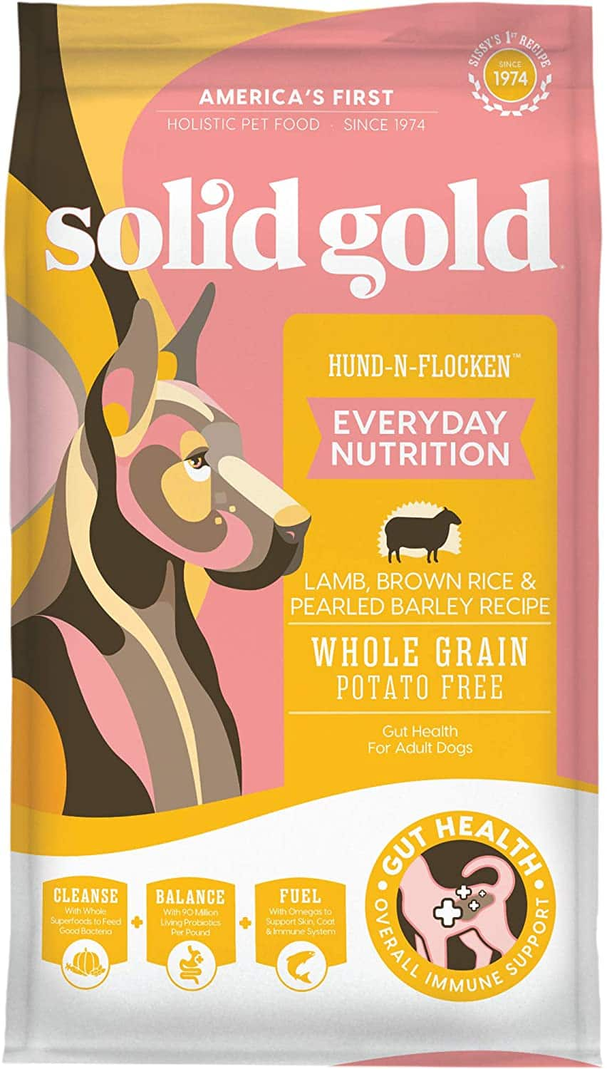 New Chewy Autoship Customers: 45-Lbs Solid Gold Hund-n-Flocken Everyday Nutrition Adult Dry Dog Food $36.90 ($0.82 per lb) + Free Shipping