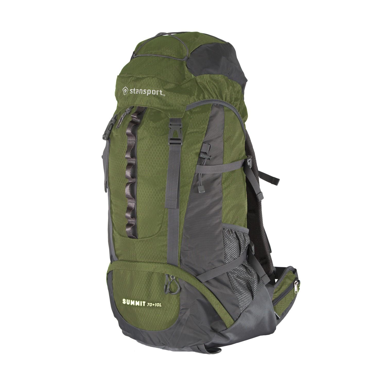 Stansport 70L + 10L Internal Frame Hiking Backpack (Olive) $43 + Free Shipping