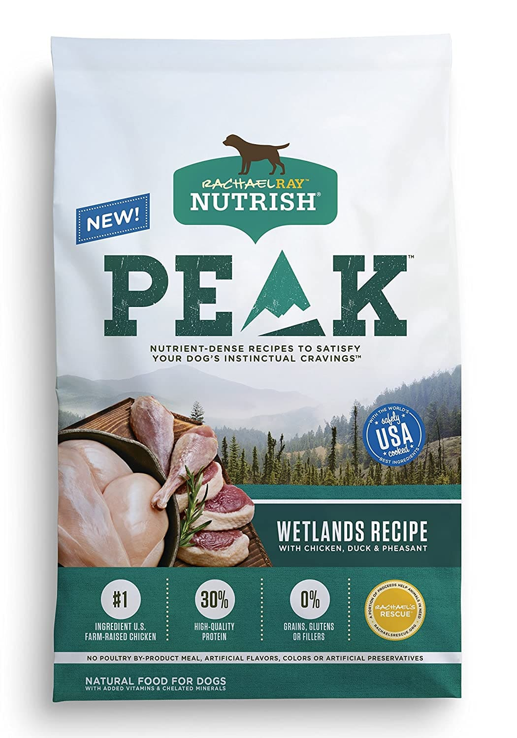 23-Lbs Rachael Ray Nutrish PEAK Wetlands Recipe Natural Dry Dog Food $27.40 w/ S&S + Free Shipping