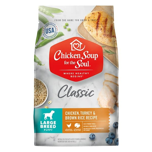 28-Lbs Chicken Soup for the Soul Large Breed Puppy Dry Dog Food (chicken, turkey, & brown rice) $23.45 w/ S&S + Free Shipping