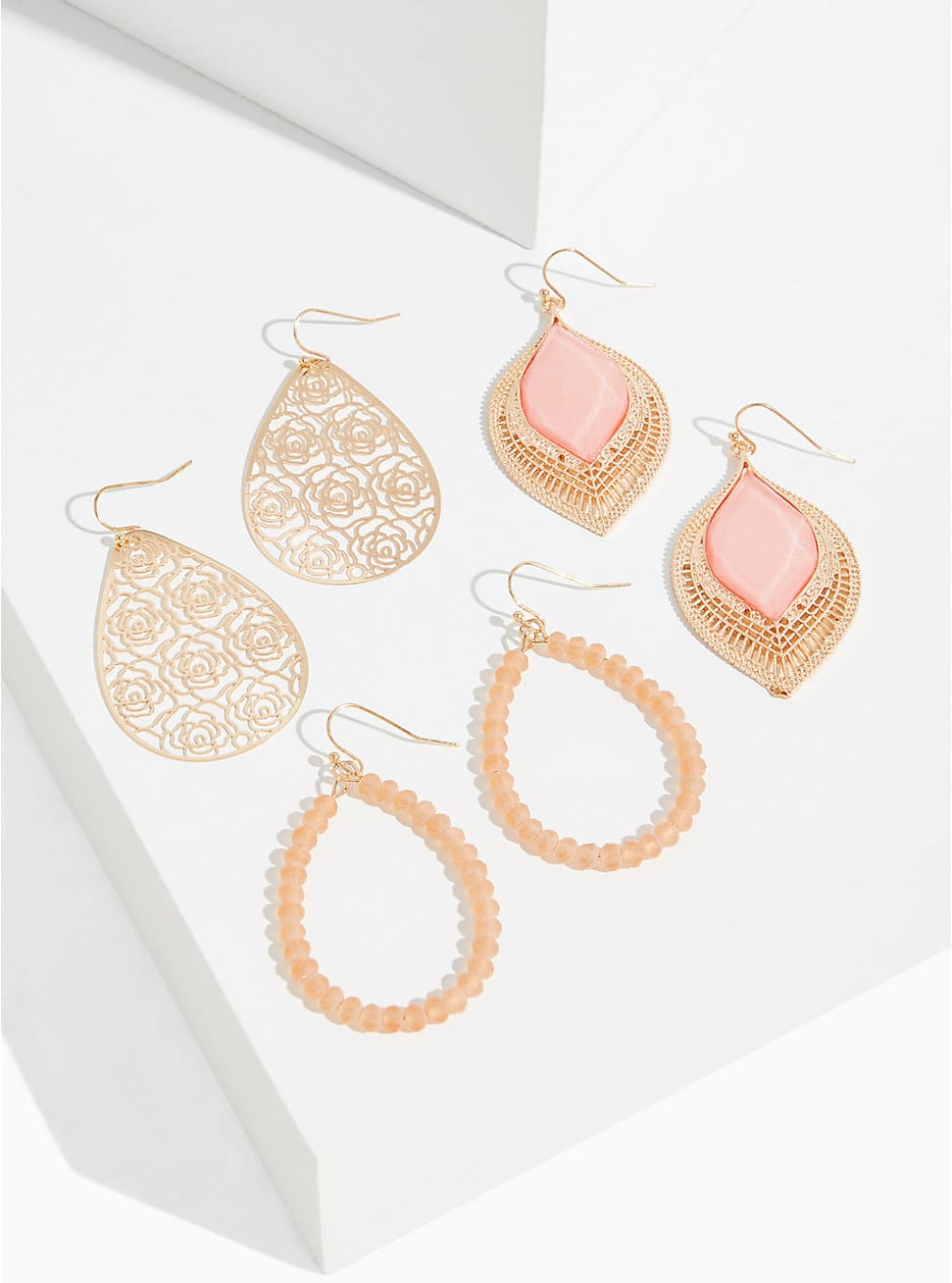 Torrid Extra 50% Off Clearance: 3-Pack Gold Tone Peach Stone Earrings Set $6, Super Soft Taupe Scoop Neck Layering Tank $9.50 & More + Free Shipping