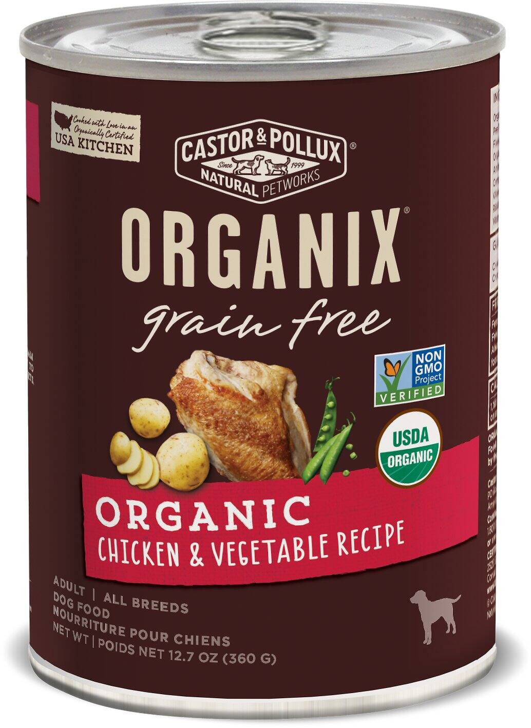12-Pack Castor & Pollux Organix Grain-Free Organic Adult Canned Dog Food (12.7-Oz Each) $19 or less w/ Autoship + Free Shipping $49+