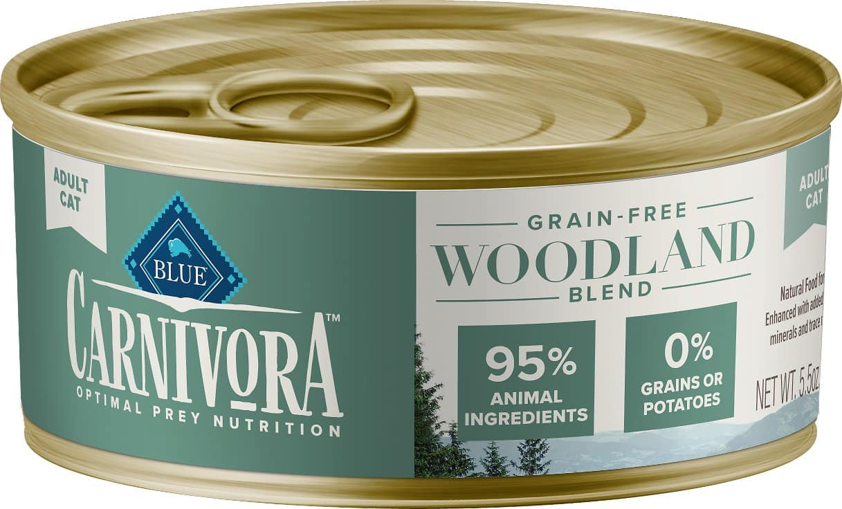 24-Pack Blue Buffalo Carnivora Woodland Blend Grain-Free Adult Wet Cat Food (5.5-Oz Each) $30.30 or less w/ Autoship + Free Shipping $49+