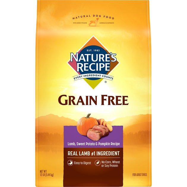 12-Lbs Nature's Recipe Grain Free Dry Dog Food (Lamb, Sweet Potato, & Pumpkin) $13.10 w/ S&S + Free Shipping