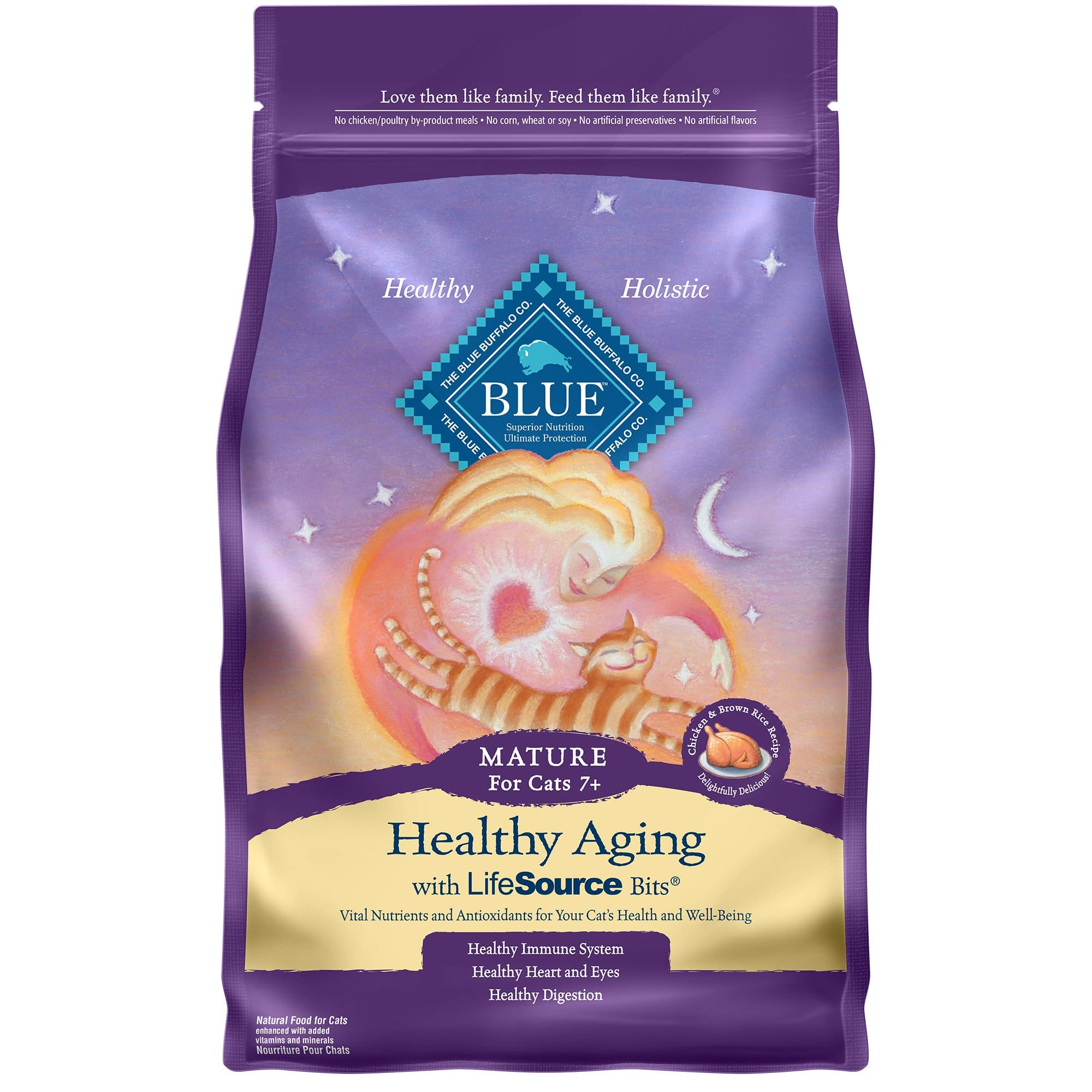 7-Lbs Blue Buffalo Healthy Aging Chicken & Brown Rice Recipe Mature Dry Cat Food $11.65 + Free Store Pickup at Petco