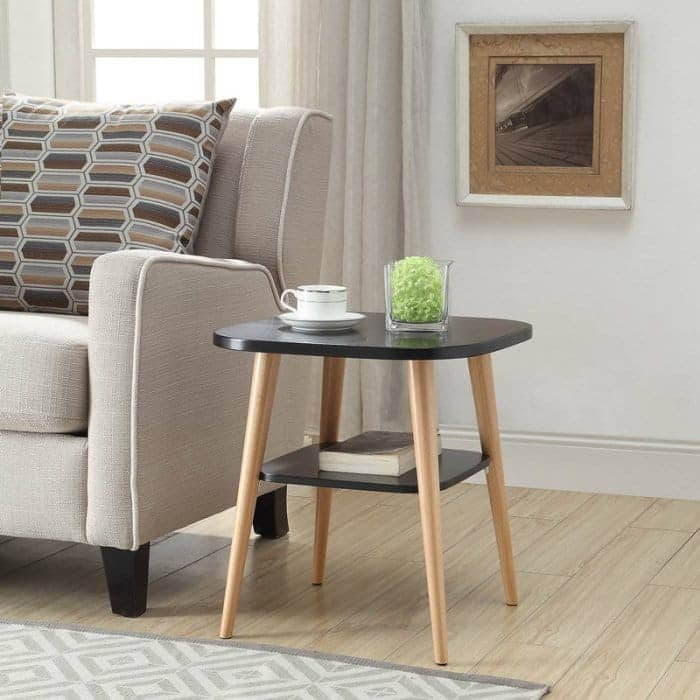 """Urban Style Living Furnitue: 24"""" Mission Counter Stool (mission oak) $24, Jellybean Side Table (black wood finish) $28 & More + Free Shipping $49+"""