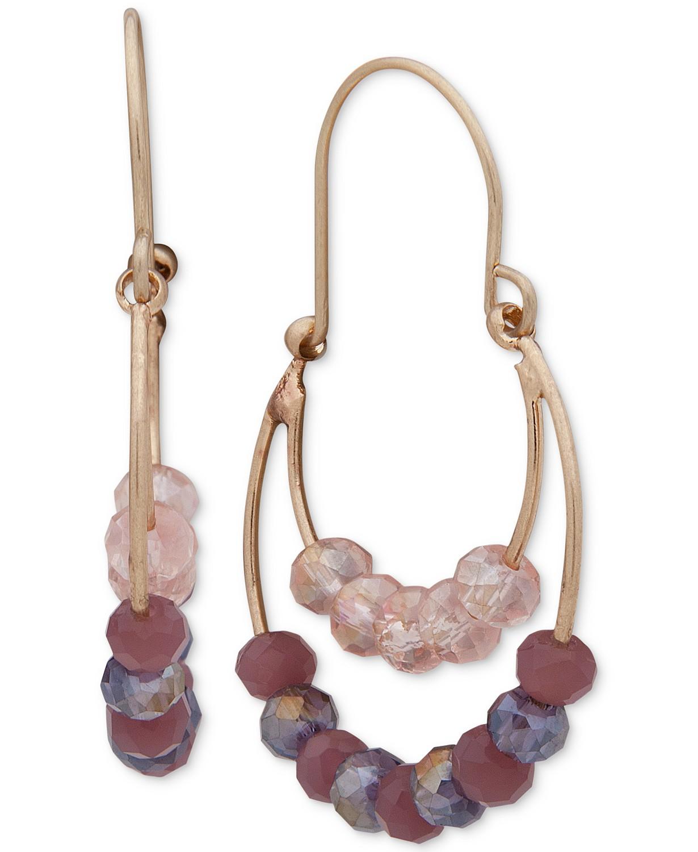 Lonna & Lilly Women's Jewelry: Beaded Double-Row Drop Earrings $7.70, Flower Cluster Stud Earrings $7.70, Druzy Stone Slider Cuff Bracelet $9.80 & More + F/S $25+