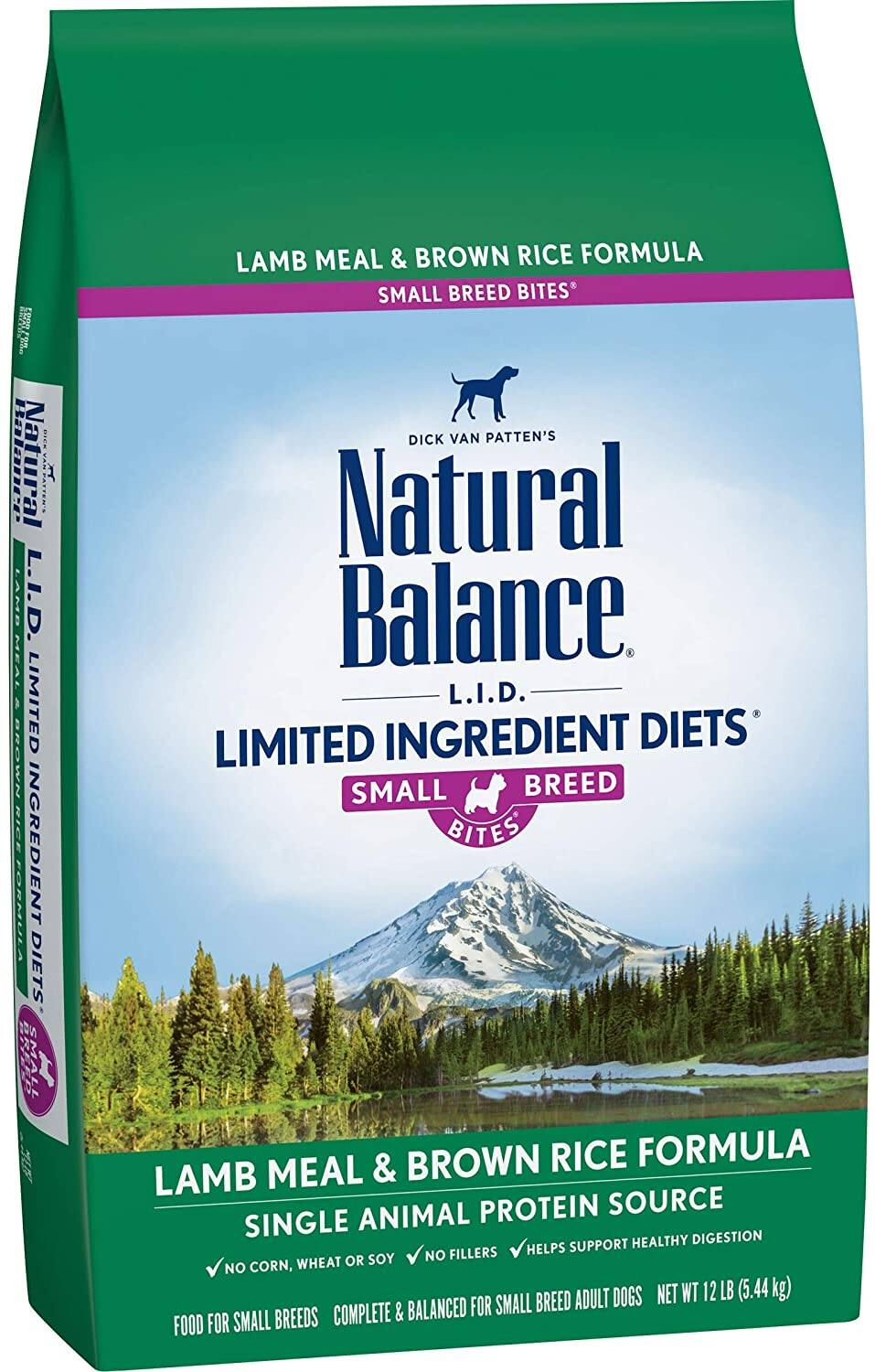 12-Lbs Natural Balance Limited Ingredient Diet Small Breed Dry Dog Food (w/ grains) $15.45 w/ S&S + Free Shipping w/ Amazon Prime