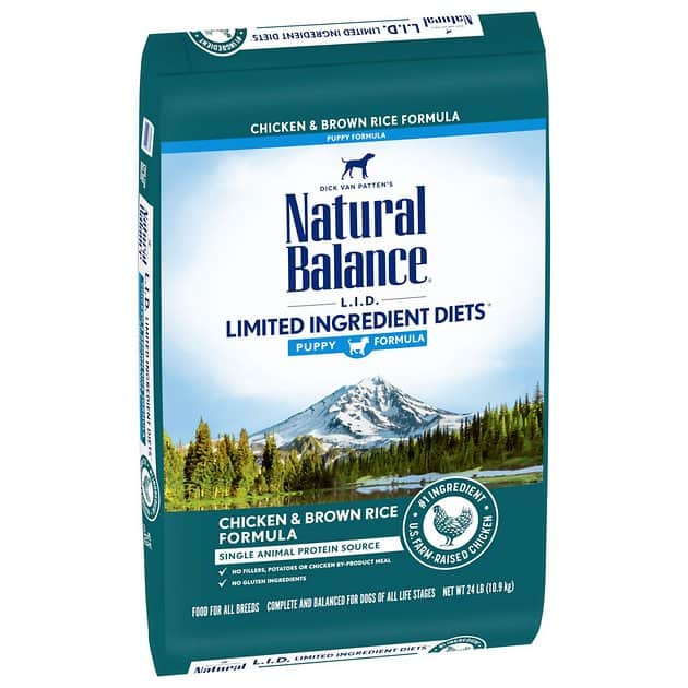 24-Lbs Natural Balance Limited Ingredient Diet Puppy Recipe Dry Dog Food (Chicken & Brown Rice) $26.70 w/ S&S + Free Shipping w/ Amazon Prime