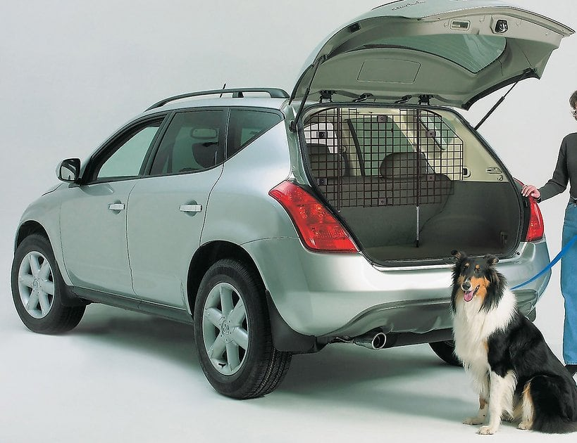 MidWest Wire Mesh Universal SUV Car Dog Barrier + Chuckit! Large Treat Tote $34.75 + Free Shipping
