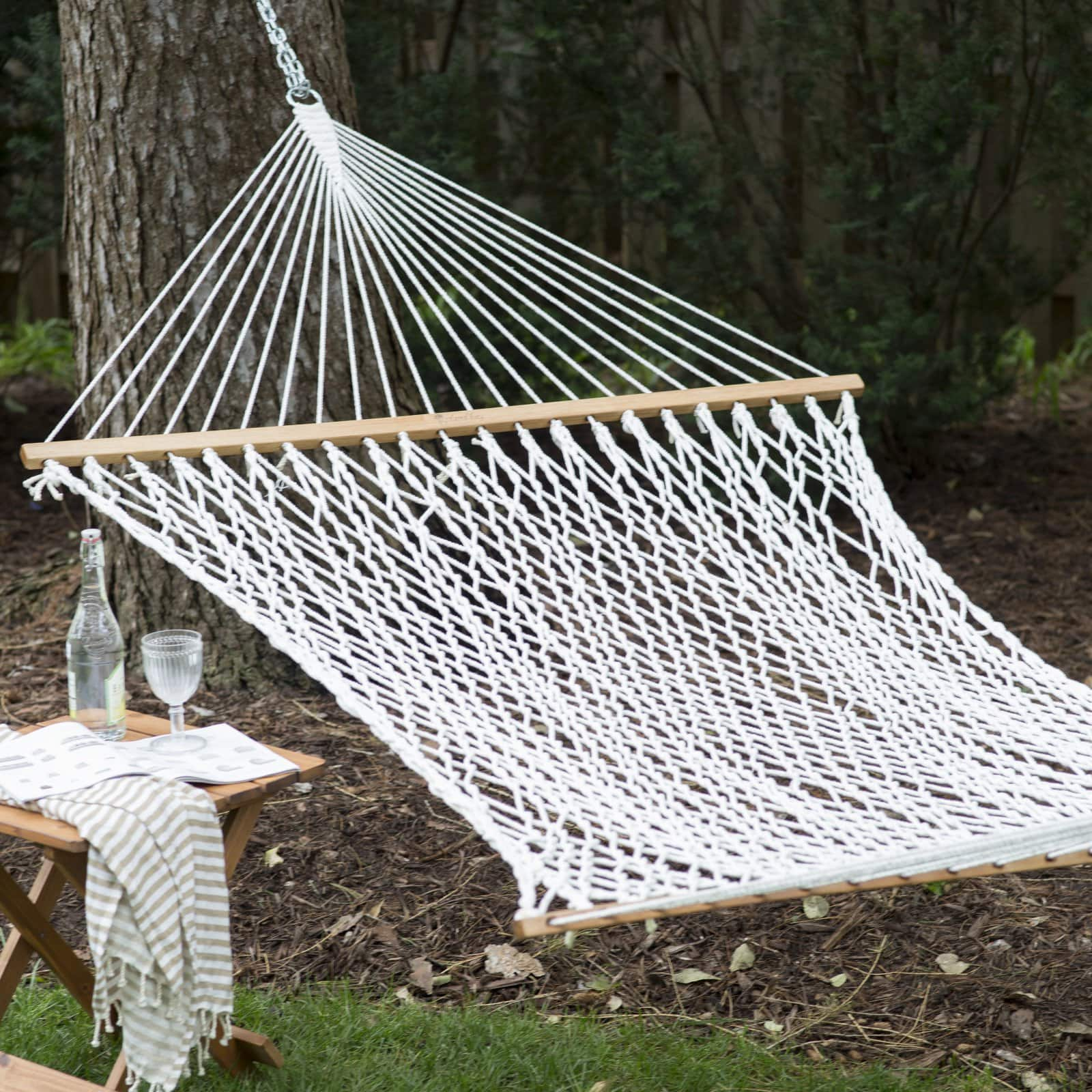 Coral Coast XL Thick Rope Double Hammock w/ Hanging Hardware (UV Resistant Polyester) $24 + Free Shipping