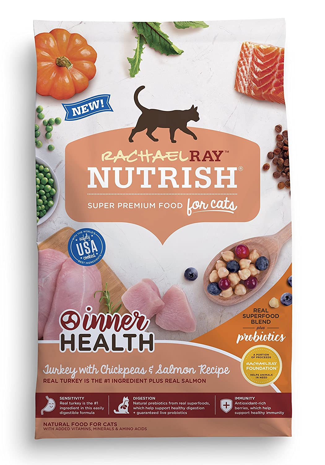 14-Lbs Rachael Ray Nutrish Inner Health SuperFood Blends Dry Cat Food $13 w/ S&S + Free Shipping w/ Amazon Prime