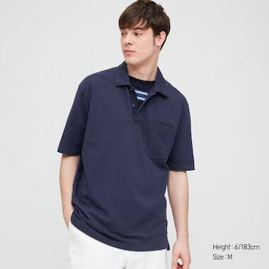 Uniqlo: Men's Cotton Pique Oversized Polo Shirt (various colors) or Men's Cotton Jersey Oversized Polo Shirt (various colors) $7.90 + Free Shipping