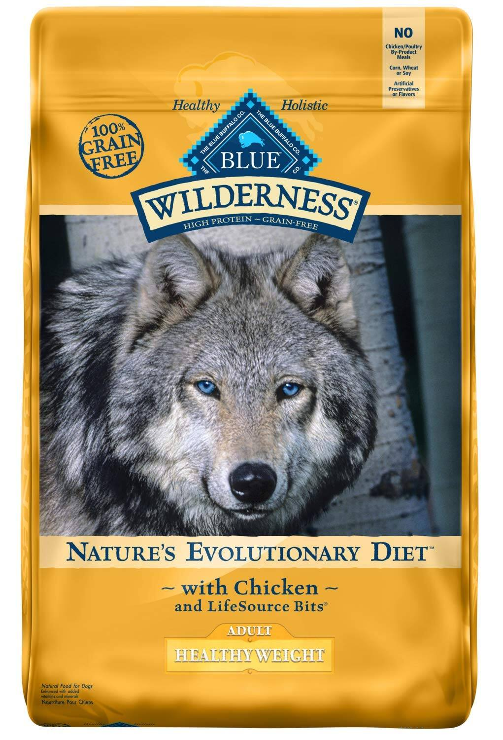 24-Lbs Blue Buffalo Wilderness Healthy Weight Recipe Dry Dog Food $32.45 w/ S&S + Free Shipping w/ Amazon Prime