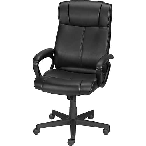 Staples Turcotte Luxura Faux Leather Desk Chair + 44-Ct Dunkin' Donuts Original Blend Coffee K-Cup Pods + 12-Pack Tru Red Pens $81 + Free Shipping
