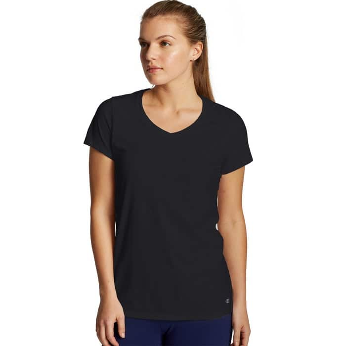 Champion Extra 40% Off Sale: Women's Jersey V-Neck Tee (various) $6, Men's Printed Logo Boxer Briefs $6 & More + Free Shipping