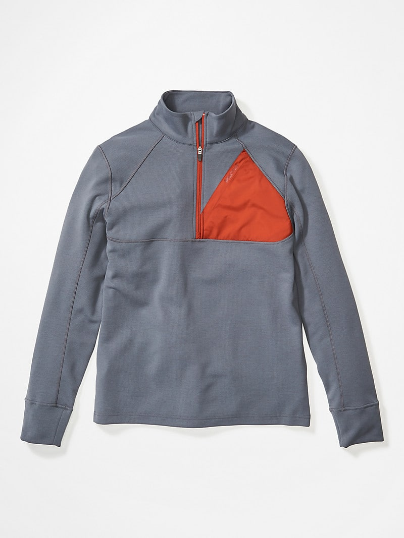 Marmot Men's Hanging Rock 1/2-Zip Pullover: Steel Onyx/Picante or Enamel Blue/Steel Onyx $36 + Free Shipping