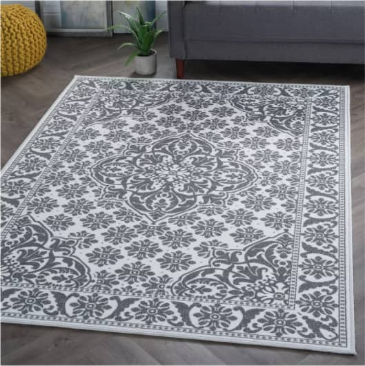 5' x 7' Tayse Rugs Francesca Traditional Oriental Ivory Non-Skid Area Rug $40.55 + Free Shipping $49+