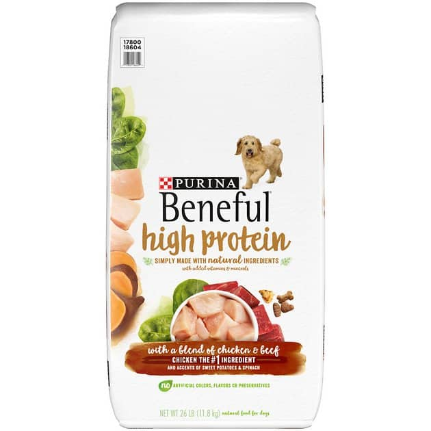 26-Lbs Purina Beneful High Protein Chicken & Beef Dry Dog Food $24.70 or less w/ Autoship + F/S $49+ or $26 w/ S&S + F/S w/ Prime