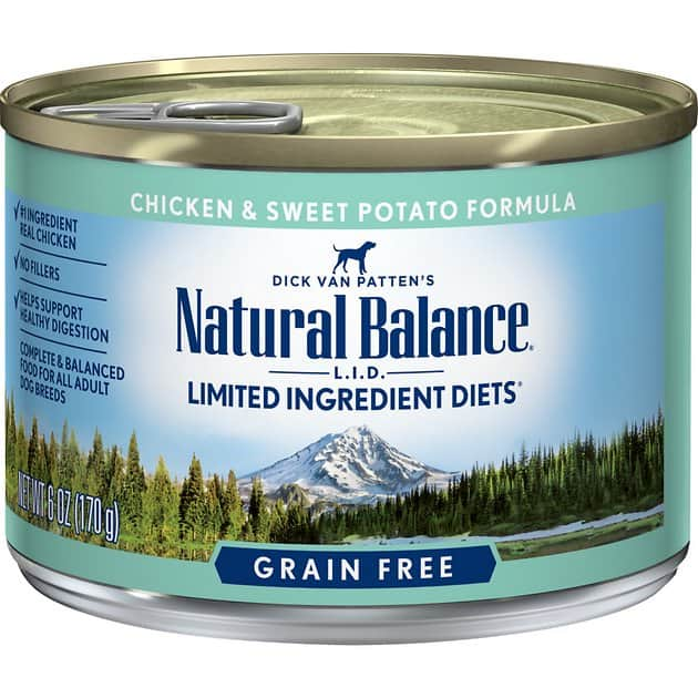 12-Pack Natural Balance Limited Ingredient Diet Chicken & Sweet Potato Canned Dog Food (6-Oz each) $12.25 or less w/ Autoship + F/S $49+ or w/ Amazon Prime