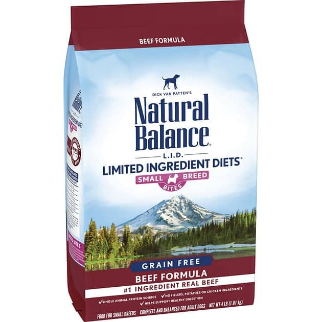 4-Lbs Natural Balance Limited Ingredient Diet Small Breed Dry Dog Food $10.90 or less w/ Autoship + F/S $49+ or w/ Amazon Prime