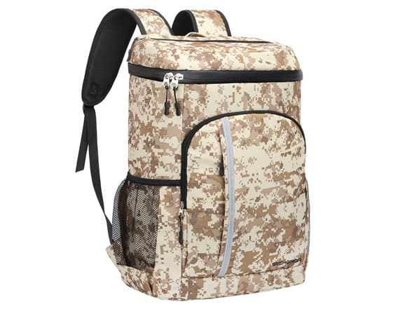 SEEHONOR Camo 30-Can Insulated Cooler Backpack $18, GARDRIT 35-Can Insulated Cooler Backpack $20 & More + Free Shipping w/ Amazon Prime