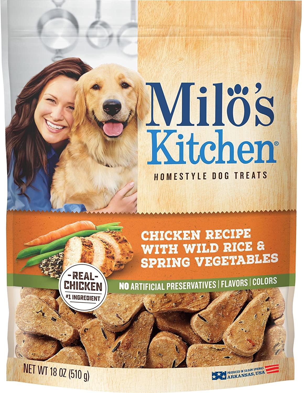18-Oz Milo's Kitchen Homestyle Dog Treats (Chicken w/ Wild Rice & Vegetables) $5.55 w/ S&S + Free Shipping w/ Amazon Prime or Orders $25+