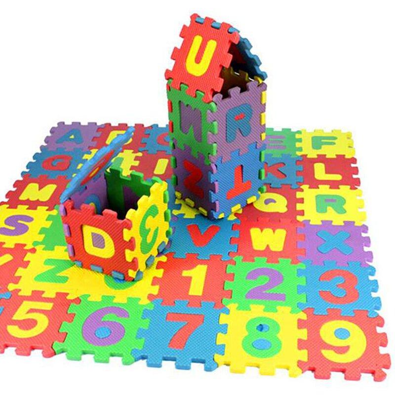 36-Pc Number & Alphabet Puzzle Interlocking Foam Playmat $8.80 + Free Shipping