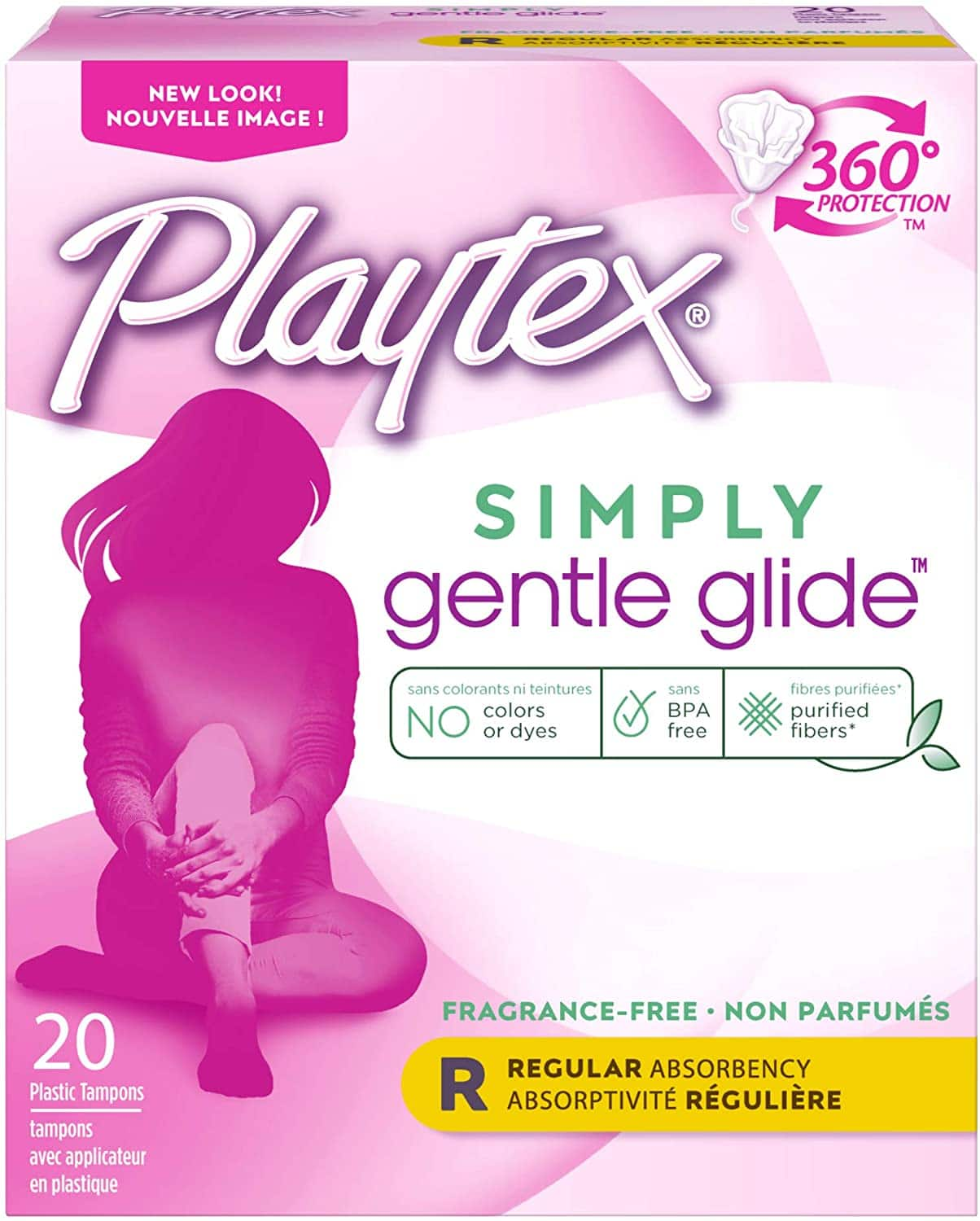 2-Pack 20-Ct Playtex Gentle Glide Tampons (Regular,Unscented) $3.80 w/ S&S + Free Shipping w/ Amazon Prime or Orders $25+