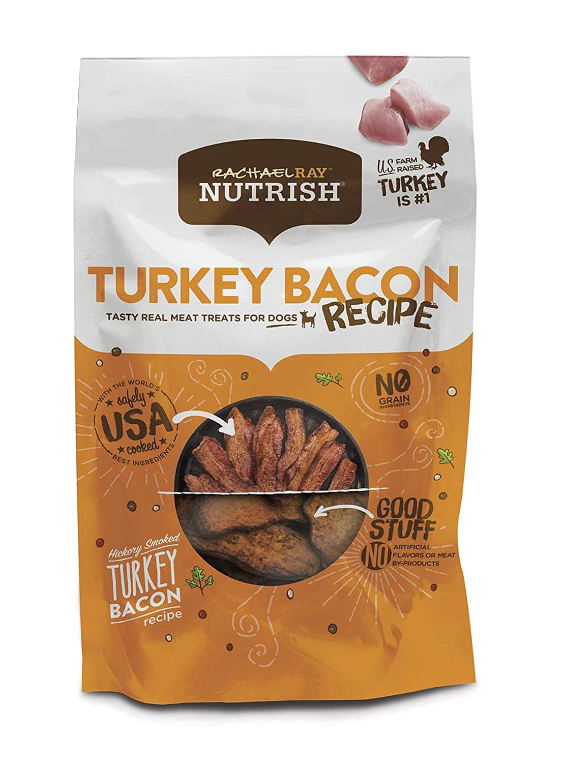 12-Oz Rachael Ray Nutrish Real Meat Dog Treats (Turkey Bacon Recipe) $3.75 w/ S&S + Free Shipping w/ Amazon Prime or Orders $25+