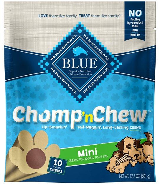 10-Ct Blue Buffalo Mini Chomp 'n Chew Long-Lasting Dog Chews $2.85 w/ S&S + Free Shipping w/ Amazon Prime or Orders $25+