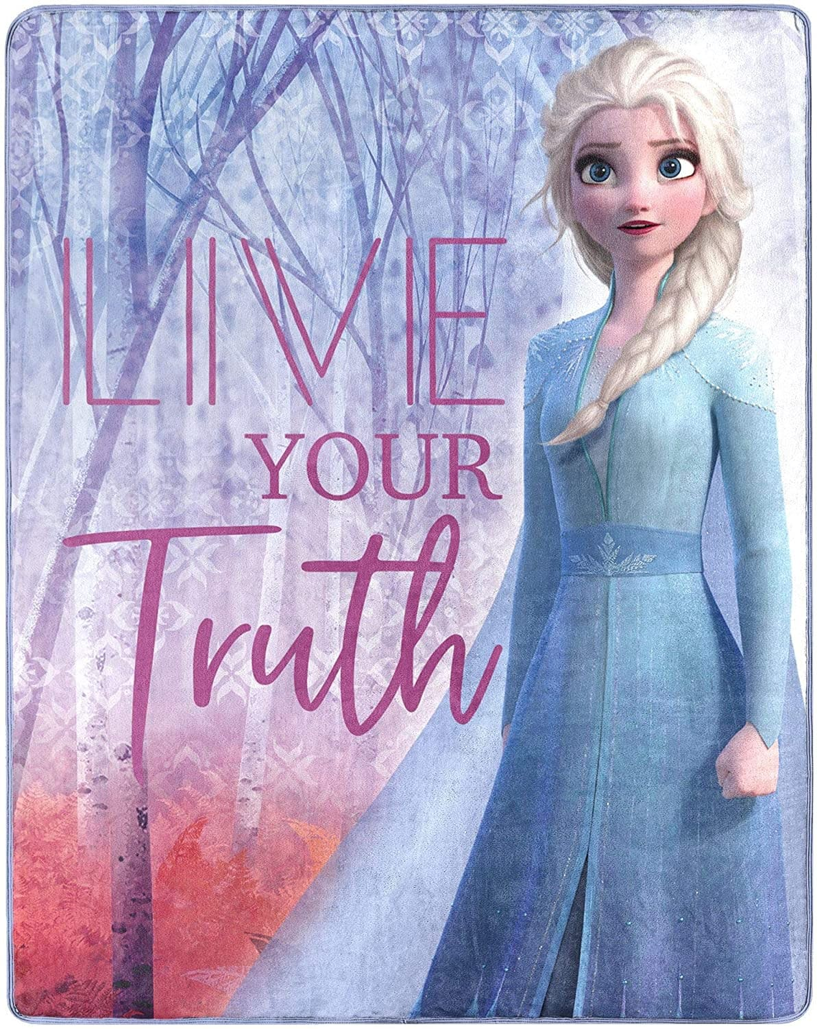 """50"""" x 40"""" Disney's Frozen 2 Elsa Live Your Truth Silk Touch Throw Blanket $8.45 + Free Shipping w/ Amazon Prime or Orders $25+"""