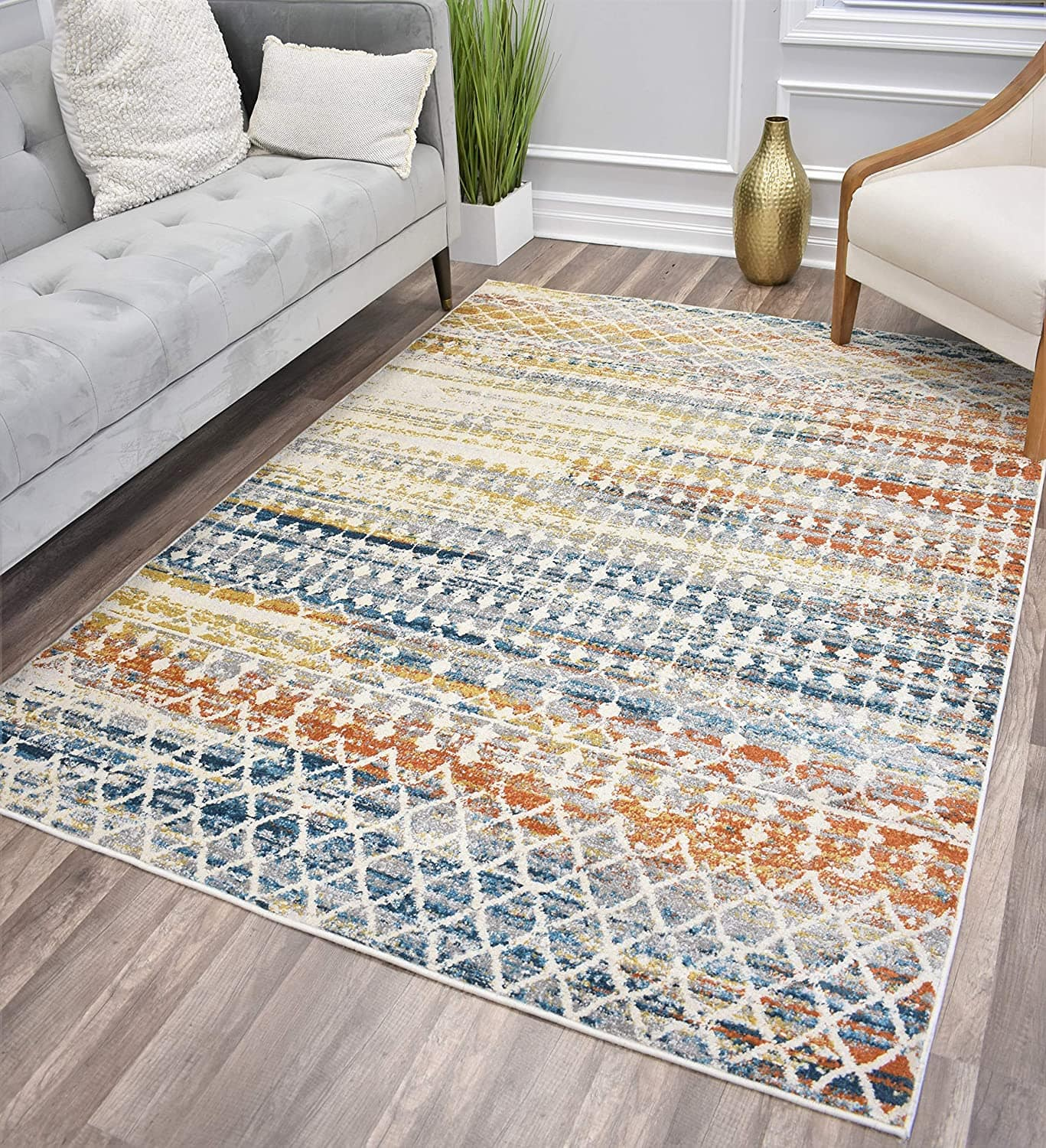 """5'1"""" x 7' CosmoLiving Manhattan Collection Area Rug (Tribal Harvest) $33 + Free Shipping"""